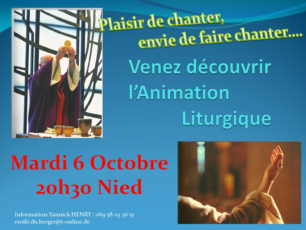 Rencontre animation liturgique 6 Octobre 2015