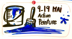 Action peinture